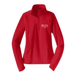 Brutal Logo Ladies Half Zip Pull Over